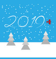 new year concept - plane vector image vector image
