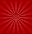 retro ray background with lines of red color vector image vector image