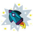 rocket doodle cartoon vector image