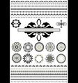 Round ornaments and border vector image vector image