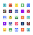 Science and Technology Colored Icons 5 vector image vector image