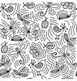 seamless background with birds flowers vector image vector image