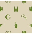 seamless background with islamic icons vector image vector image