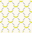seamless geometric pattern with bananas vector image vector image
