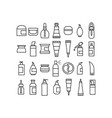 skin care cosmetics and hygiene products icons set vector image vector image