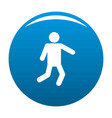 stick figure stickman icon blue vector image