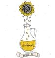 Sunflower oil in bottle vector image vector image
