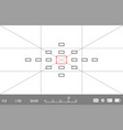 template for your design camera viewfinder vector image