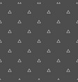 tile pattern with triangles on black background vector image vector image