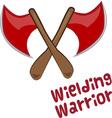 Wielding Warrior vector image vector image