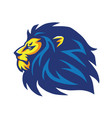 wild lion mascot logo design vector image vector image
