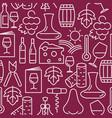 wine bar seamless pattern for restaurant menu vector image