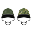 Military helmets isolated on white background vector image
