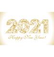 2021 folk ethnic golden vector image