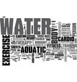 aquatic exercise equipment text word cloud concept vector image vector image