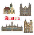 architecture landmarks of austria icons