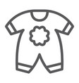 baby clothes line icon kid and clothing vector image vector image