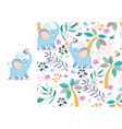 baby elephant pouring itself water from trunk vector image vector image