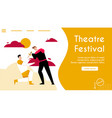 banner theatre festival concept vector image vector image