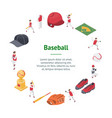 baseball game sport signs 3d banner card circle vector image vector image