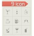 black beverages icons set vector image vector image
