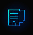 blue e-book reader concept icon vector image vector image