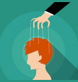 businessman control mans mind design vector image vector image