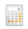 Calculator icon flat design isolated on white vector image vector image