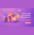 career development landing page template vector image vector image