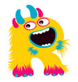 cartoon capital letter r from monster alphabet vector image vector image