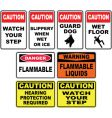 Caution signs vector image