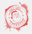 christmas stamp with large stains blots and vector image vector image