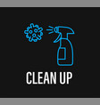 clean up coronavirus protection campaign vector image