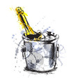 Colored hand sketch champagne vector image vector image