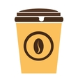 colorful coffee cup graphic vector image vector image