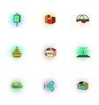 Construction of city icons set pop-art style vector image vector image