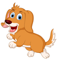 cute little dog cartoon expression vector image vector image