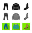 design of man and clothing symbol set of vector image