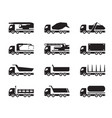 different construction trucks vector image