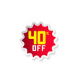discount 40 off template design vector image