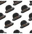 English retro hat seamless pattern headdress