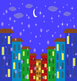 Evening city vector image