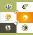 farm fresh products logo concepts vector image vector image