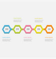 five step timeline infographic colorful 3d vector image vector image
