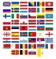 Flags of the countries of Europe vector image vector image