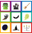flat icon halloween set of superstition crescent vector image vector image