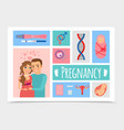 flat newborn colorful concept vector image vector image