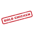 Gold Chicken Text Rubber Stamp vector image vector image