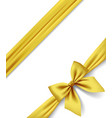 gold ribbon and bow isolated on white background vector image