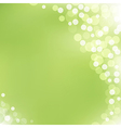 Green Background With Bokeh vector image vector image